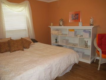 The Beach Comber room directly across from Master on main floor. shared bath