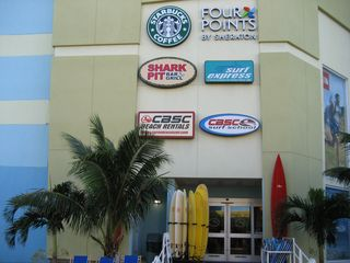 Cocoa Beach townhome photo - Four Points Sheraton and all the retail stores inside!