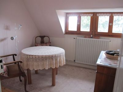 Lovingly furnished rooftop apartment in massive Vosges house