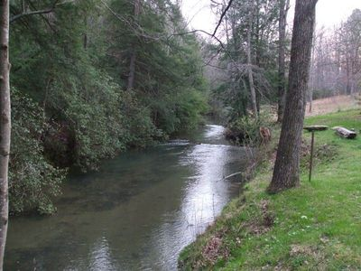 Rock Creek is in the backyard of Rock Creek Cabin - Great Trout Fishing!