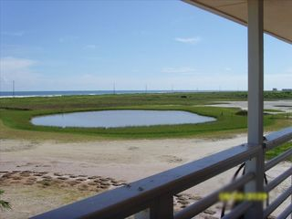 Galveston property rental photo - Airated Pond on Location