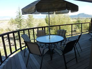 Teton Village condo photo - Large Wrap-around Deck With Beautiful Views Across the Valley to the Mountains