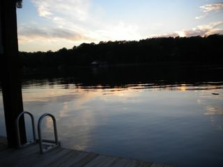 Lake Bob Sandlin lodge photo - take a dip in the evening calm