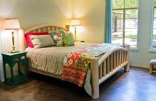 Wimberley property rental photo - Large Comfy King size bed