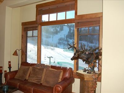 View of the slopes from Living Room