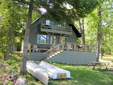 Gaylord chalet rental - View from Lake