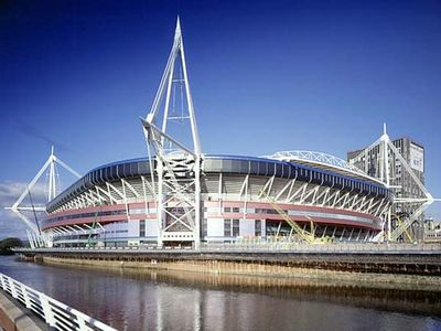 The Millennium Stadium Cardiff - home of Welsh Rugby and Football