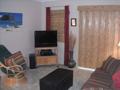 Living Room With Flatscreen TV & DVD Player.