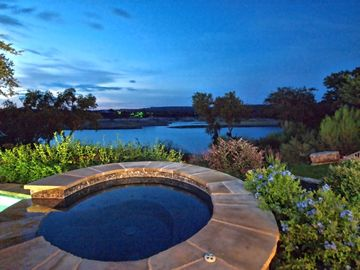 Relax in the spa with outstanding views of Lake Travis.