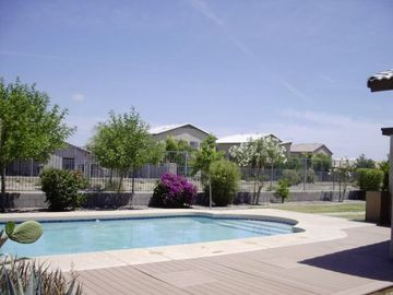 Queen Creek bungalow rental - Huge private pool overlooking cart path so no golf balls! Hidden from neighbour