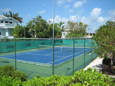Your waterfront Private Tennis Court