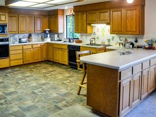 Camano Island house photo - The spacious Kitchen also has a water view!