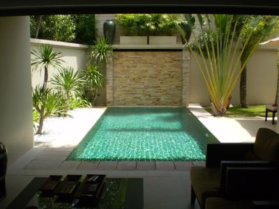 Bangtao beach villa rental - The lounge opens onto the swimming pool