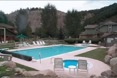 Pool, hot tubs, and tennis court are just steps from our front door.