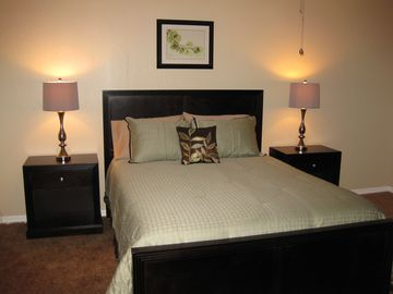 Master Bedroom: Queen Bed, Walk-In Closet, Flat Screen TV, ensuite bathroom
