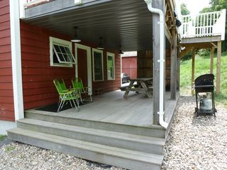 You'll have access to this outdoor deck, with gas grill and picnic table. - Saratoga Springs apartment vacation rental photo