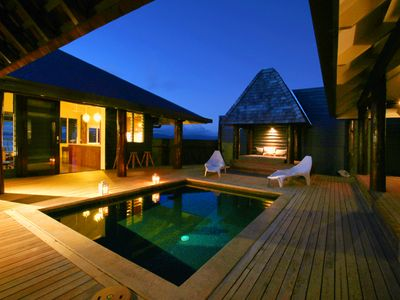 image for The Pod House, private marble tiled pool, complete privacy