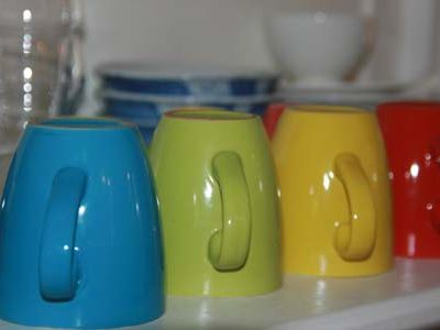 Old Center apartment rental - HEMA mugs