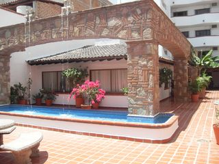 Puerto Vallarta condo photo - Courtyard fountains off reception area with 24 hour security