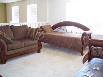 Upstairs den with day beds
