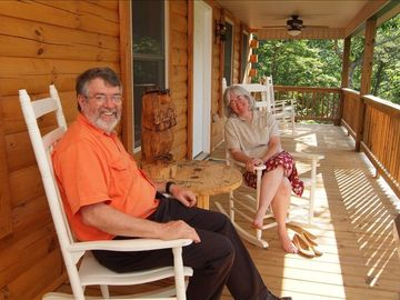 Relax, enjoy the view. One of 2 rocking chair porches!