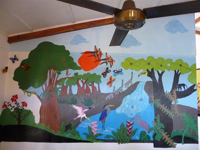 Living Room Mural painted by local artists