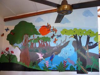 Jaco house photo - Living Room Mural painted by local artists