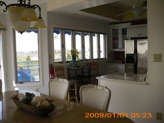 Brigantine townhome photo - Kitchen/ Dining Room with a view.