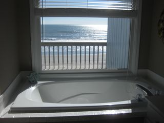 Emerald Isle cottage photo - jacuzzi overlooking ocean in master bathroom