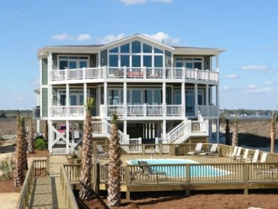 Holden Beach house rental - View from private walk way to beach