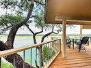 Deck - Enjoy an alfresco meal at the 4-person dining table overlooking Lake Travis.