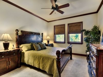 Master Bedroom's luxurious King Bed will have you asleep in seconds.