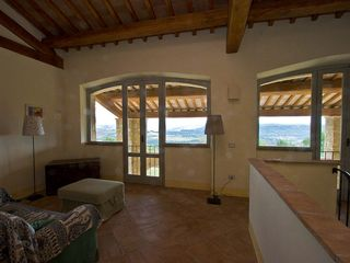 Penna in Teverina villa photo - Upstairs sitting area with view through portico