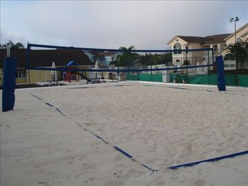 Our Beach-Sand Volly Ball Court. Also Night Lit!