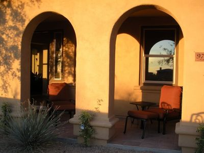 Boulders Scottsdale house rental - Front entrance covered patio.