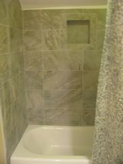 Palmetto Dunes villa photo - newly tiled shower shared by 2 upstairs bathroom