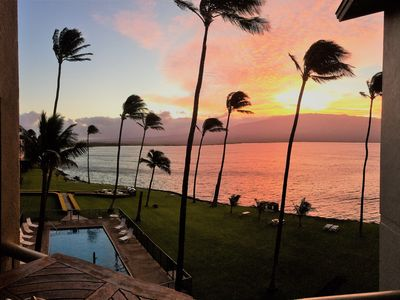 Sunrise is breathtaking from the Maalaea Kai Penthouse Suite!