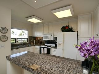 Wailea condo photo - Spacious gourmet kitchen with same view as lanai