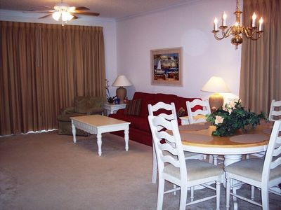 Windy Hill condo rental - Living room and dining