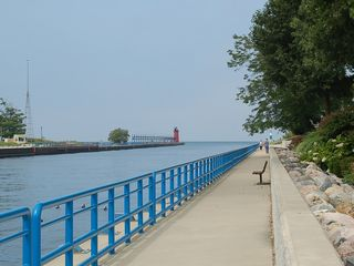 South Haven cottage photo - Entry to the South Haven Harbor, 1 minute walk from the cottage