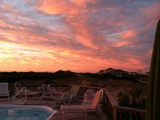 Carova house photo - Carolina skies from the pool deck.