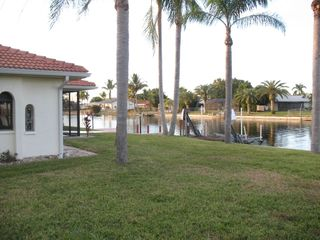 Cape Coral house photo - View of canal behind house