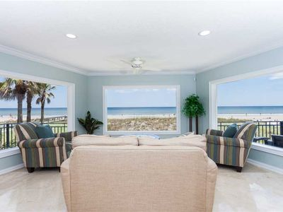 Panoramic views await you in the 2nd-floor sitting room! - Sink into one of these ultra-comfy loveseats and gaze out at the amazing view of dunes, beach, ocean, and horizon. Your vacation has officially begun!