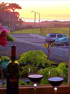 Wine time at sunset