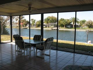 Cape Coral house photo - Lanai overlooking canal