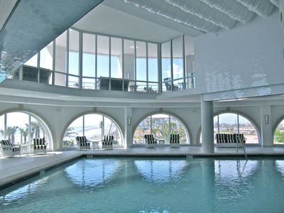 Indoor pool at Diamond Beach