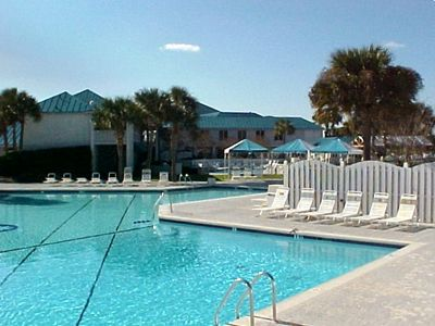 Club pools, restaurants, fitness center, bike rental