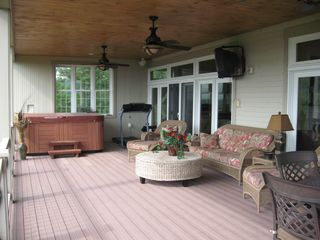 Bethel house photo - Large Deck With Hot Tub