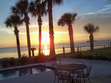 Hernando Beach house rental - Backyard Sunset/ view