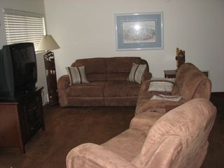 Mammoth Lakes condo photo - Spacious Living Room with 2 Oversized recliners